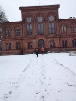 På väg i snön